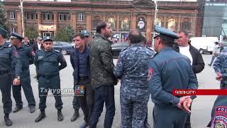 Գյումրիում բախումներ են տեղի ունեցել ոստիկանների և ցուցարարների միջև, Tsayg.am