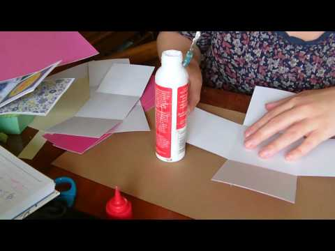 How to make an exploding box card using A4 card