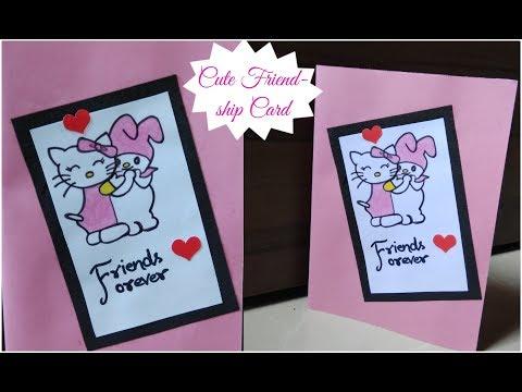 DIY Cute Friendship Day Card/Simple and Easy Card for Friends/Cute Handmade Card/Easy Greeting Card