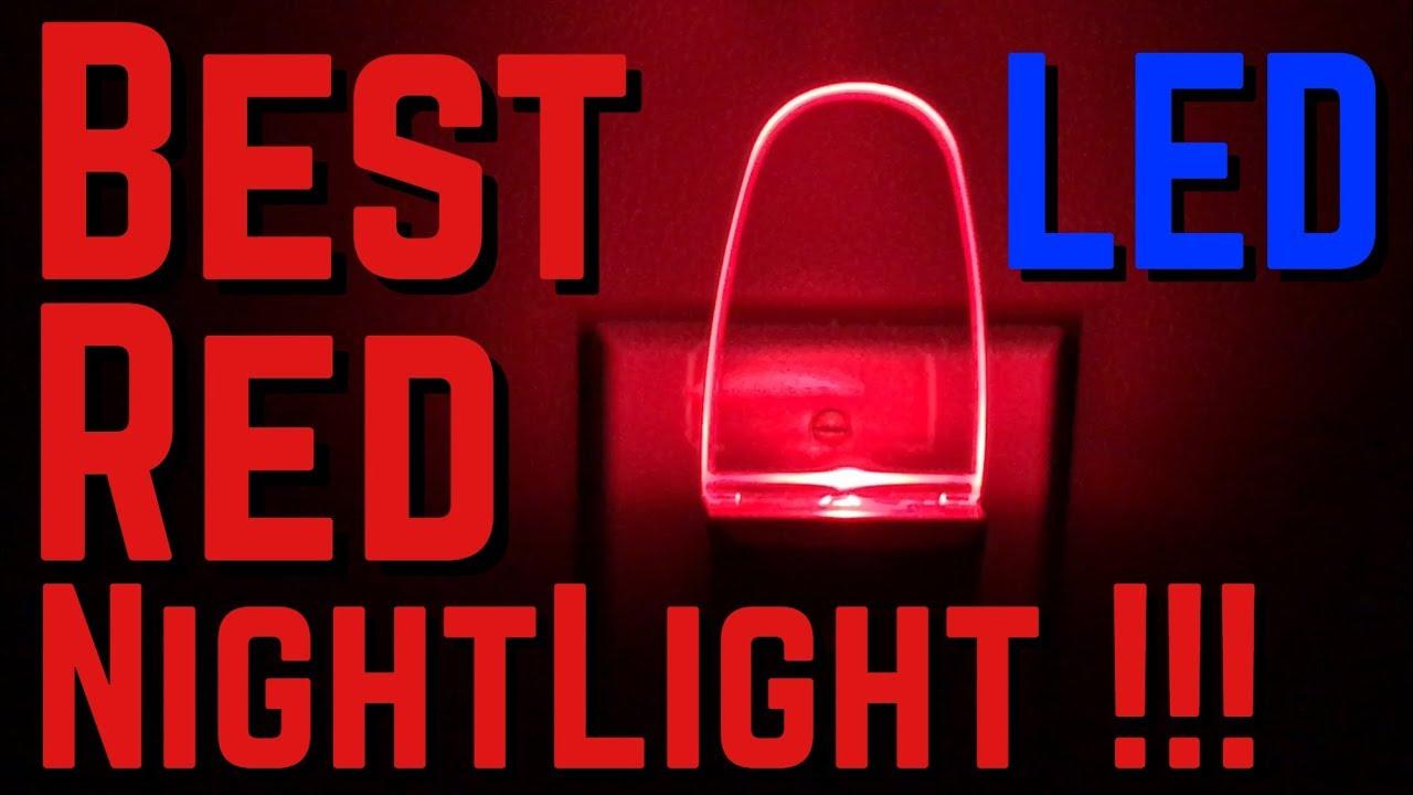 Greenic 0.5W Plug In Light Sensor LED Red Night Light For Bedroom Bathroom  Kitchen Hallway
