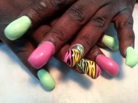 big hump nails acrylic art