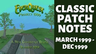 Everquest P99 Green Prep - Classic Patch Notes Mar 99 - Dec 99
