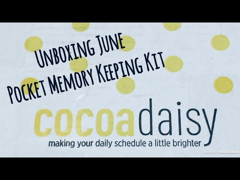 Cocoa Daisy June 2018 Unboxing - Pocket Memory Keeping Kit - Part 3