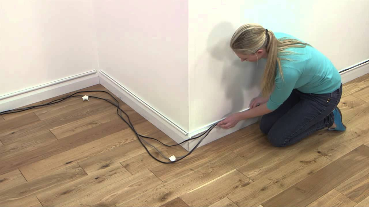 how to d line mini trunking above baseboards skirting clip over rh youtube com hide wires behind skirting board Cement Board Skirting Panels