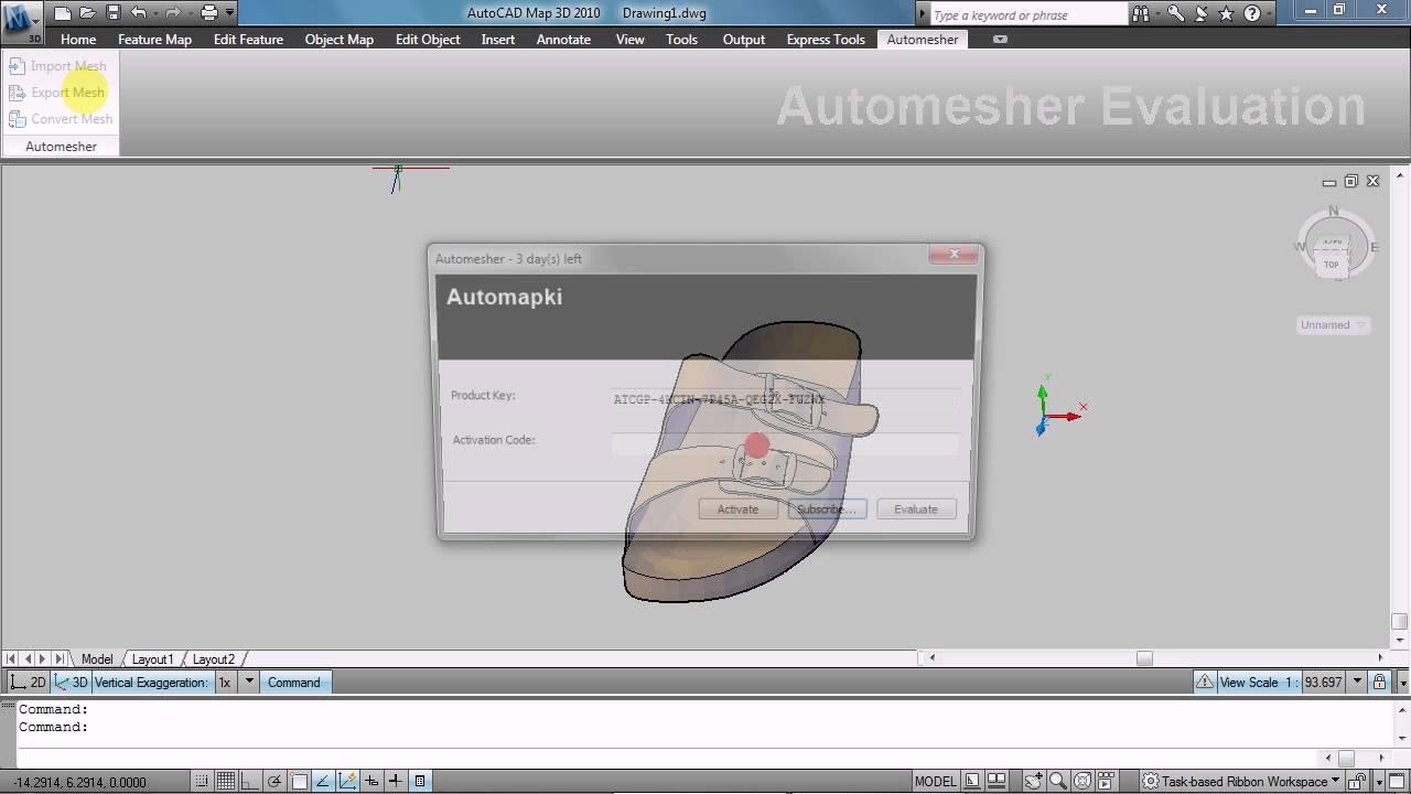 Import/Export OBJ file for AutoCAD