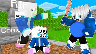 Monster School Poor Baby Sans and Bad Mother Sad Life - Minecraft Animation