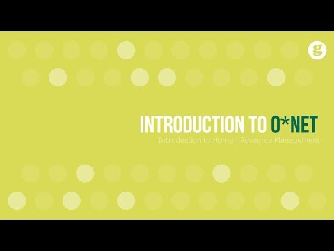 Introduction to O*Net