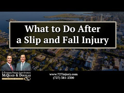What to Do After a Slip and Fall Injury