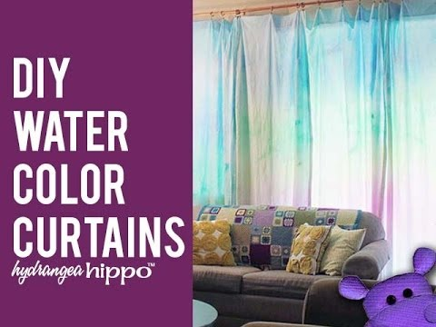 DIY Watercolor Curtains With Tulip Tie Dye YouTube