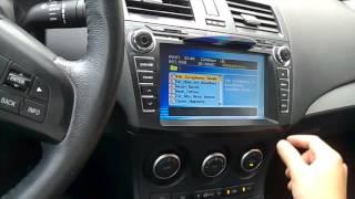 Nghe nhc, xem video tr n Mazda 3s bng th SD v USB смотреть
