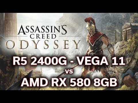 Assassin's Creed Odyssey - Ryzen 5 2400G - VEGA 11 vs RX 580 8GB - Will it Play? thumbnail