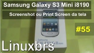 Samsung Galaxy S3 Mini i8190 - Review Screenshot ou Print Screen - PT-BR - Brasil