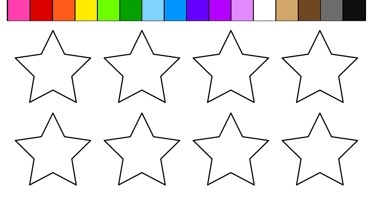 learn colors for kids and color this star coloring page youtube