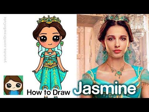 how-to-draw-princess-jasmine-|-disney-aladdin-new