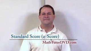 Lesson 25 - Standard Score Z-Score Explained (Statistics Tutor)