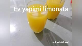 Ev yapimi limonata tarifi yapılışı