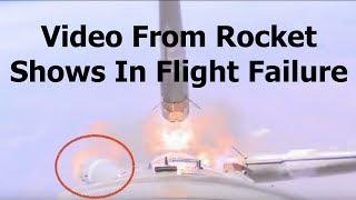 In Flight Camera Shows Damaged Sensor Destroyed Soyuz Rocket