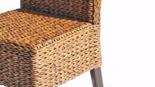 Cabo Seagrass Dining Chairs Set Of 2 - Wickerparadise.com