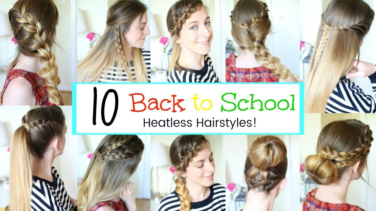 10 Back to School Hairstyles 2017 | Braidsandstyles12 - YouTube