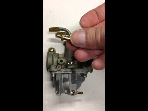 Repairing the oil feed nipple on a PW50 carburetor.