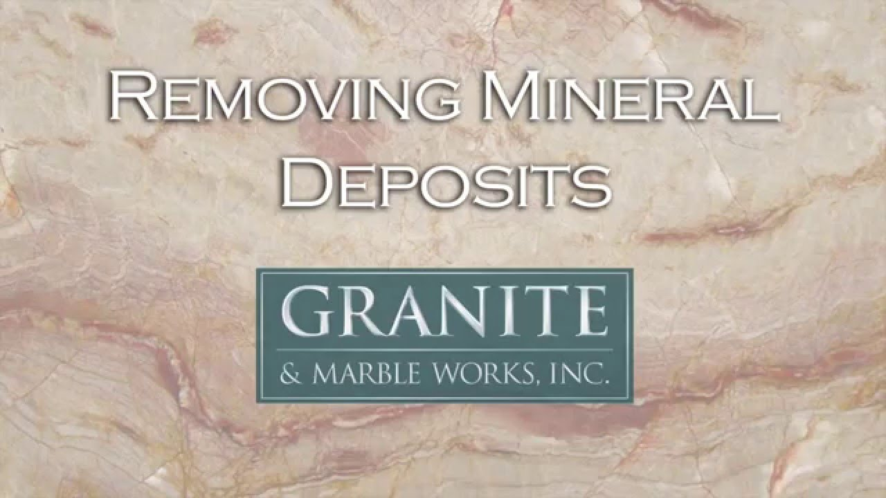 Removing Mineral Deposits From Your Granite Countertop - YouTube