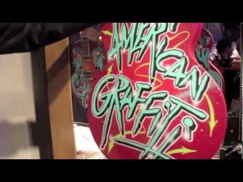 NAMM 2014 Gretsch Custom Shop Mr. Kaves Graffiti 6120s
