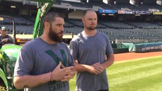 Jonny Gomes and Jon Lester ALS Ice Bucket Challenge