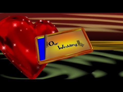 4K Ultra HD Animation OUR WEDDING INTRO Blue Screen AA VFX