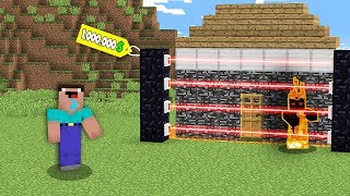 Minecraft NOOB vs PRO: NOOB BUYS HOUSE AGAINST THIEF FOR $ 1M! Challenge 100% trolling