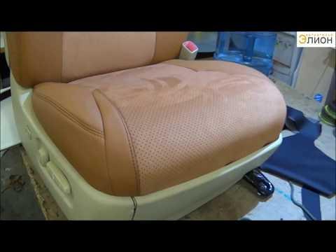 видео: Пошив чехлов из Эко-кожи и алькантары на lexus lx570