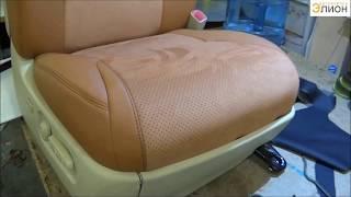 Пошив чехлов из Эко-кожи и алькантары на Lexus LX570