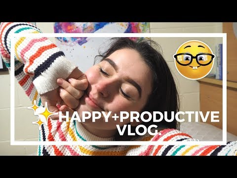 UNI VLOG | happiness + productivity (ft cringe singing)