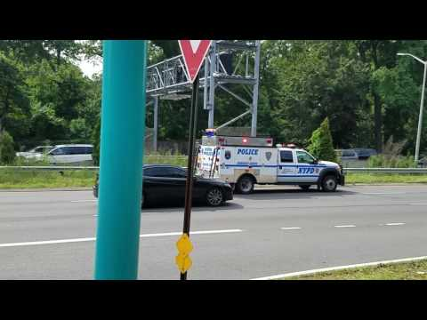NYPD ESS Adam 3 Rep Truck Responding On The Bronx River Parkway In The Bronx, New York