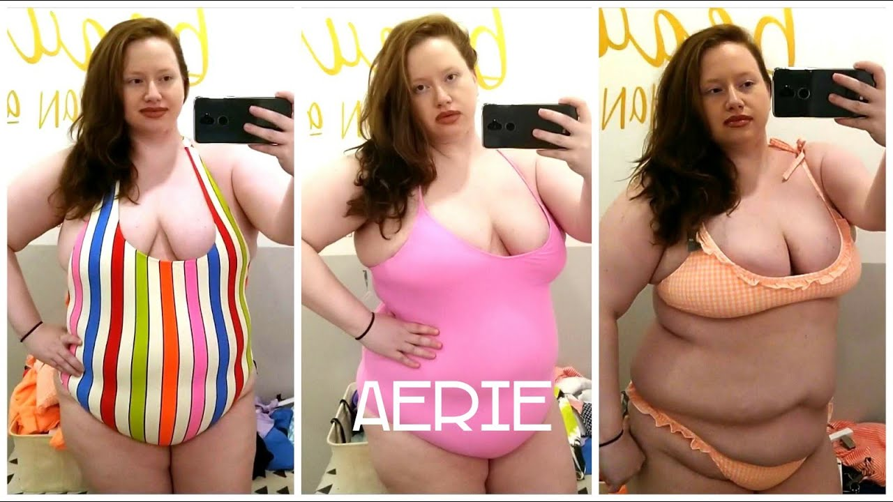 Plus Size Aerie American Eagle Swimsuit Clothing Try On Inside