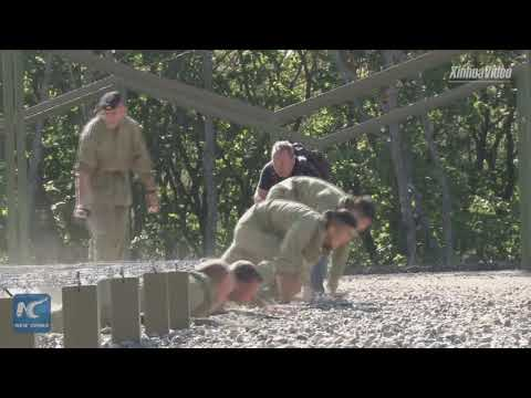Chinese, Russian marine corps hold joint anti-terror contests
