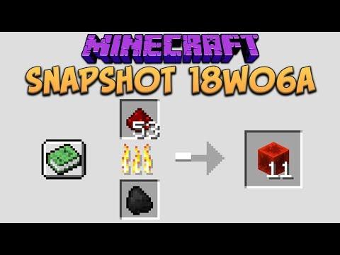 Minecraft 1.13 Snapshot 18w06a Custom Smelting, Furnace Recipe Book & New World Gen System