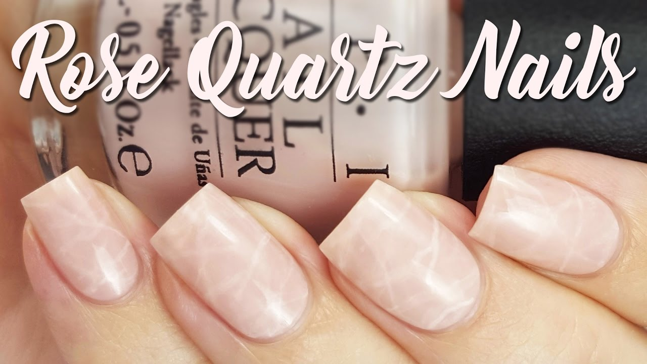 Rose Quartz Nails | The Newest Nail Trend?? - YouTube