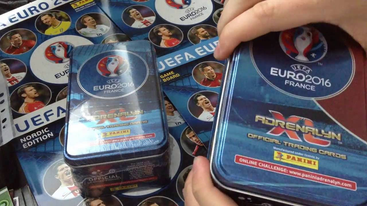 panini adrenalyn xl euro 2016 france break box collector tins 10 boosters 3 limited cards. Black Bedroom Furniture Sets. Home Design Ideas