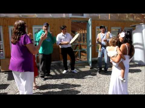 Athabascan singing and dancing at Manuel Wedding in Alaska