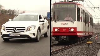 Bremstest: Auto vs. Straßenbahn