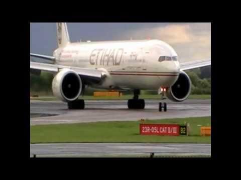 Etihad Airways 777-300/ER Abu Dhabi grand prix livery | Landing Manchester airport