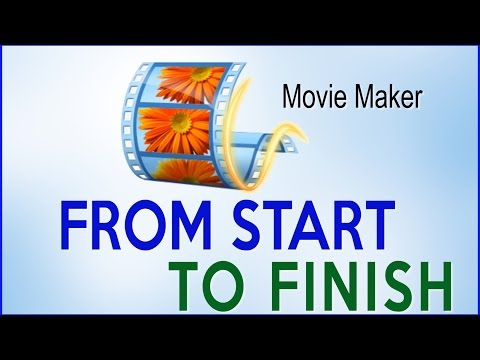 Windows Movie Maker Full Tutorial -  Step By Step (From Start To Finish)