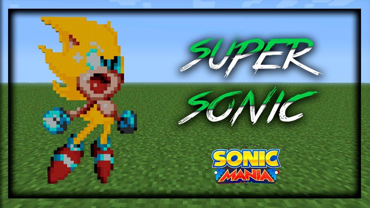 Minecraft Pocket Edition   Pixel Art Super Sonic   Sonic Mania ...