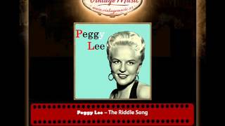 Peggy Lee – The Riddle Song