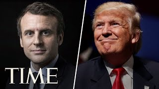 President Trump And French President Macron Give Joint Press Conference In Paris   TIME thumbnail