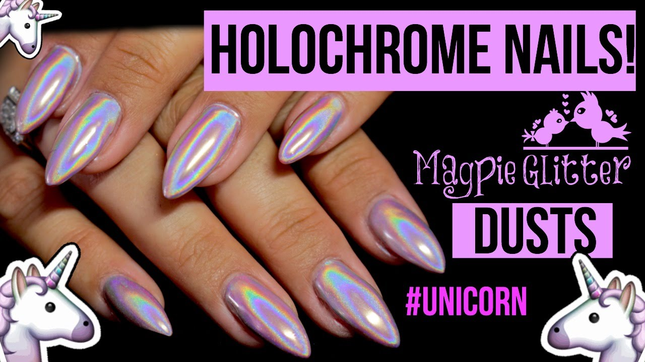 Magpie Aurora Holochrome Dusts Holographic Powdered Nails Unicorn You