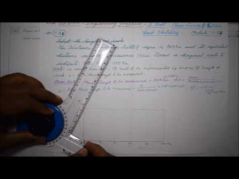 Construction of Diagonal Scale - M1.38 - Engineering Graphics in Tamil