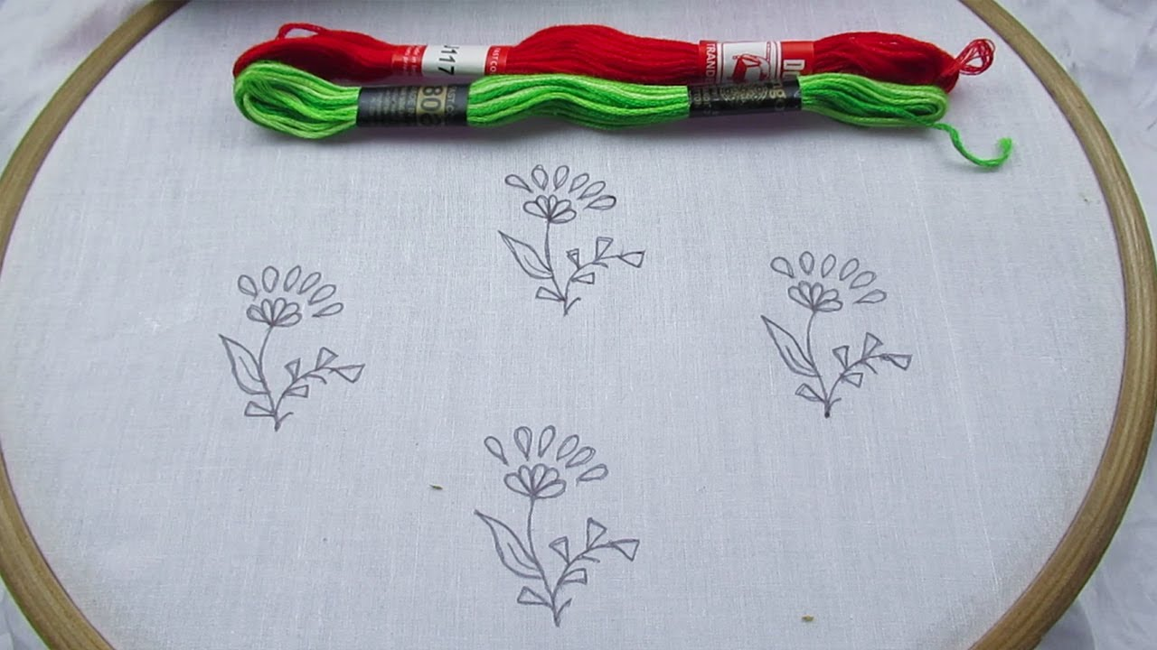 Hand Embroidery Latest All Over Embroidery Tutorial, Easy All Over Design for Dresses