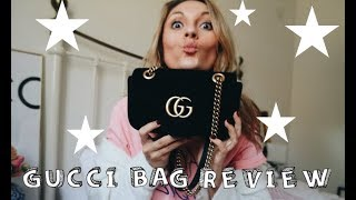 GUCCI GG MARMONT VELVET MINI BAG REVIEW | ONE YEAR ON | DO I REGRET IT?? | LAUREN CROWE