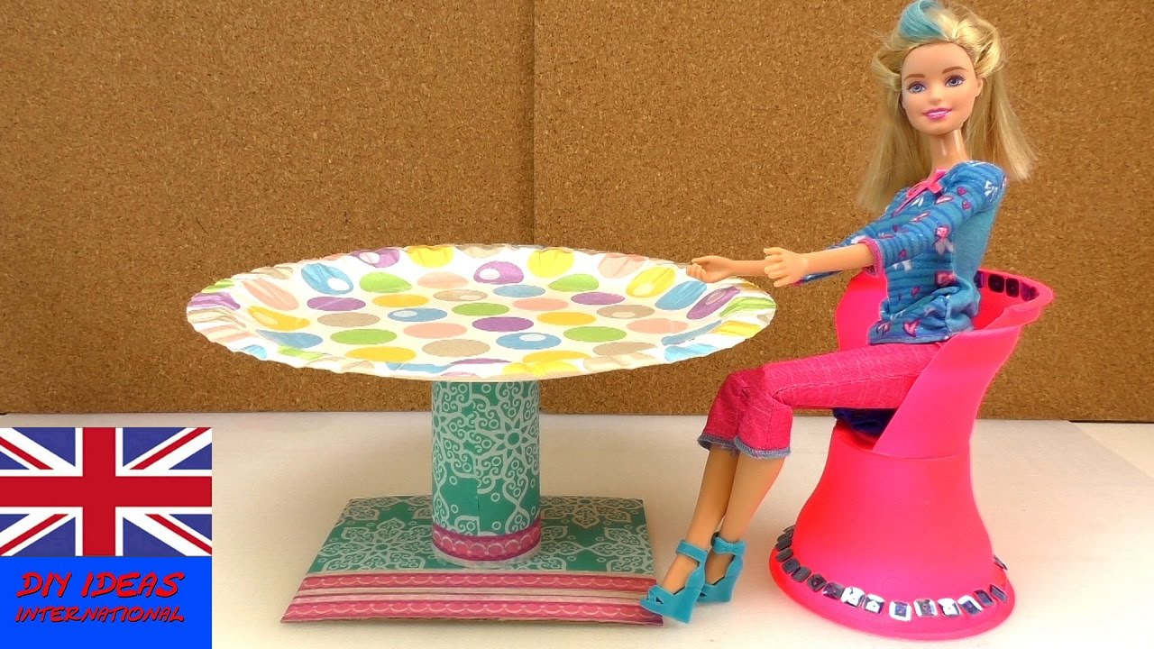 How To Make A Doll Table Doll Crafts Diy Barbie Table